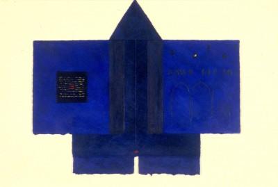 Refuge de nomade n 28, 34 x 29 cm, 1995